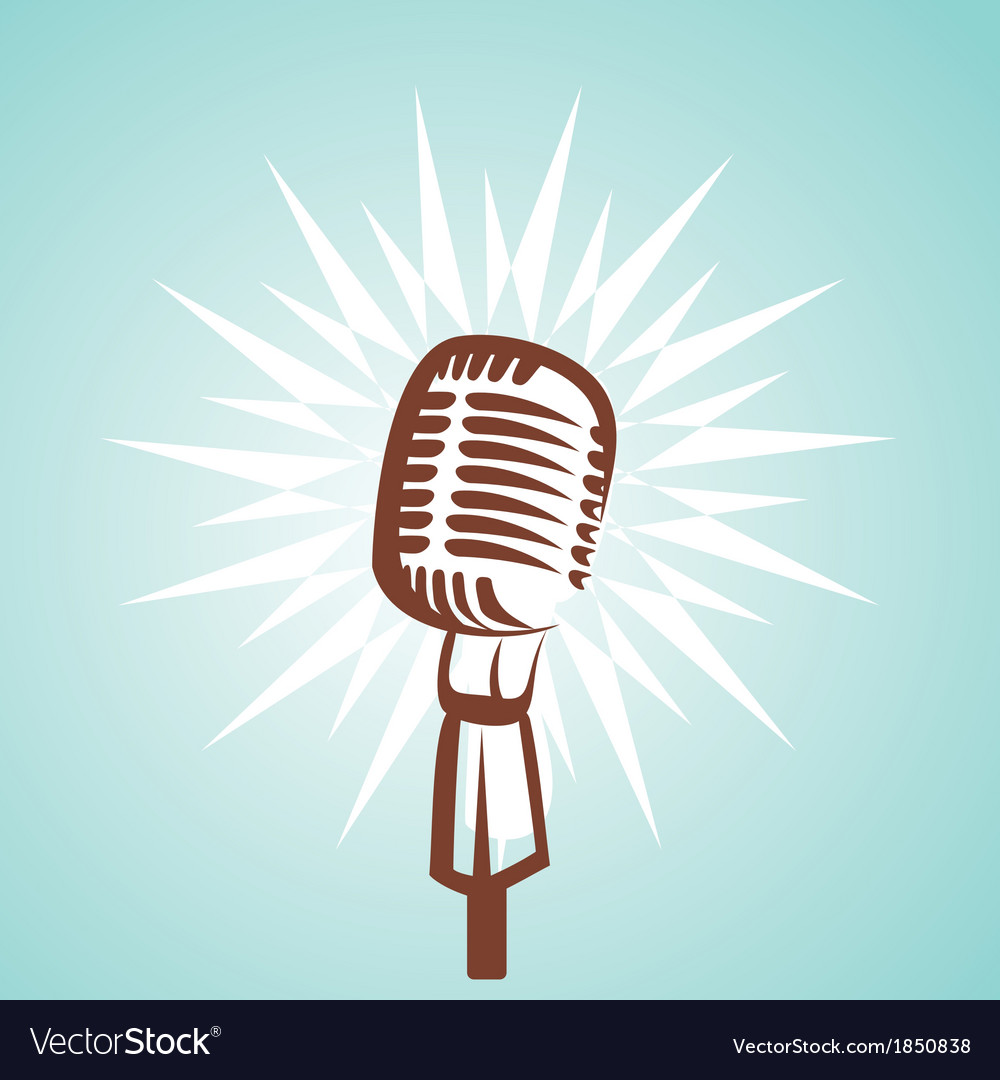 Retro microphone symbol vector | Price: 1 Credit (USD $1)
