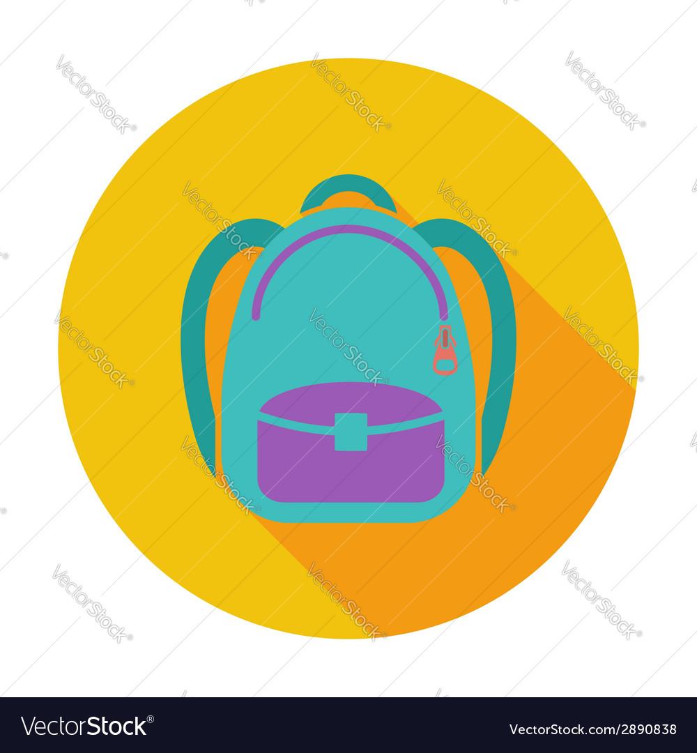 Schoolbag flat icon vector   Price: 1 Credit (USD $1)