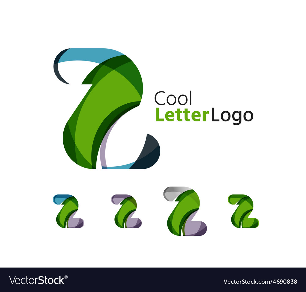 Set of abstract z letter company logos business vector | Price: 1 Credit (USD $1)