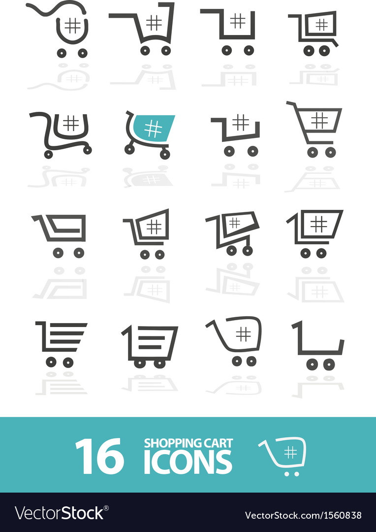 Shopping cart icon set vector | Price: 1 Credit (USD $1)