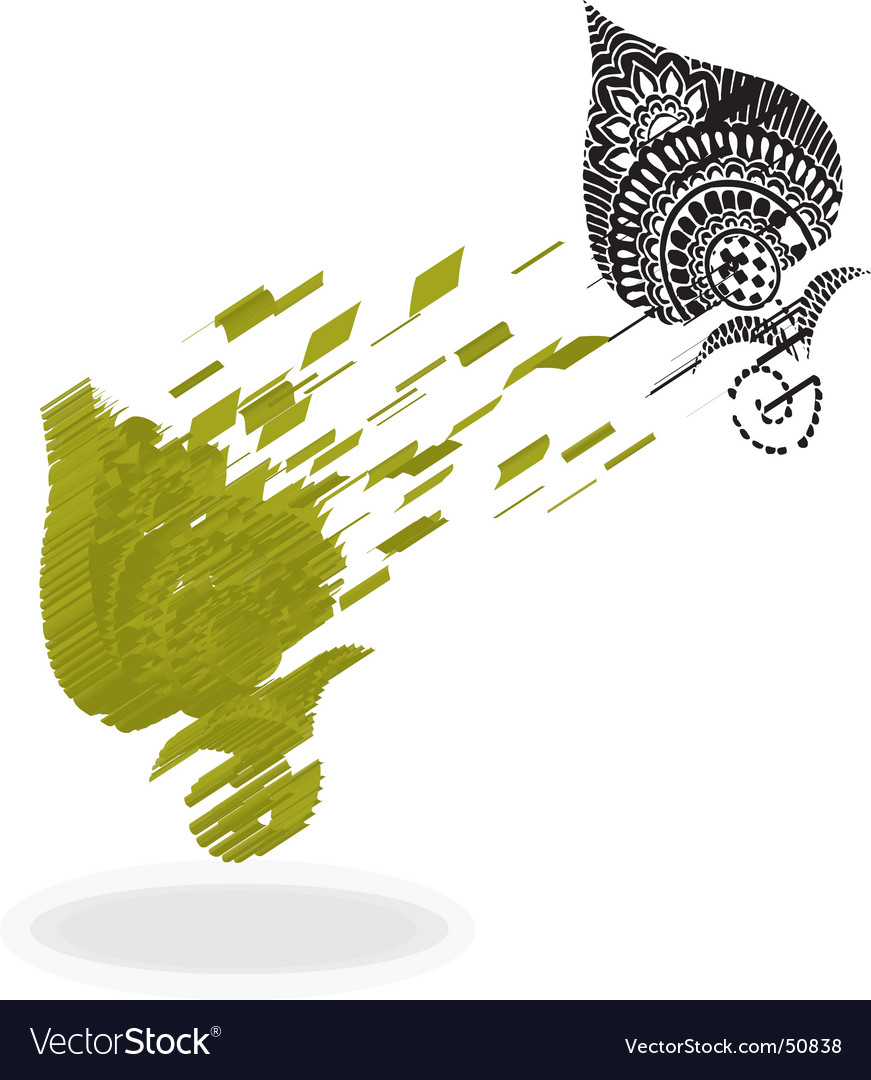 Splash leaf vector | Price: 1 Credit (USD $1)