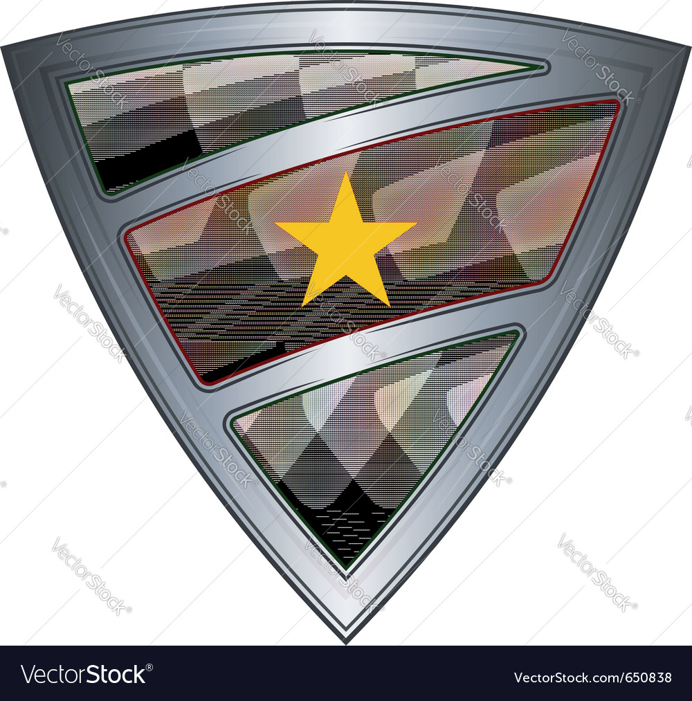Steel shield with flag suriname vector | Price: 1 Credit (USD $1)