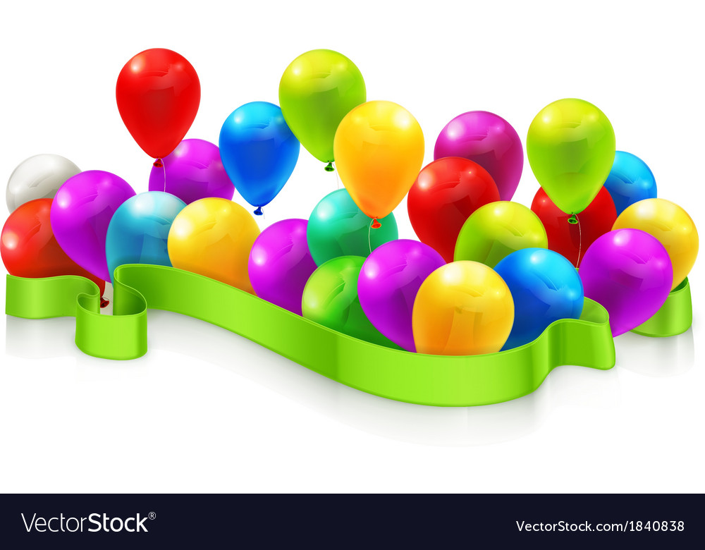 Toy balloons vector | Price: 1 Credit (USD $1)
