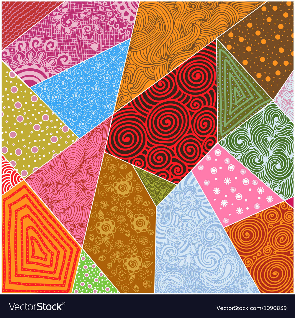 Abstract patchwork background vector | Price: 1 Credit (USD $1)