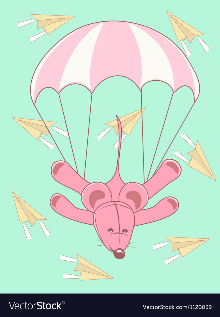 Baby card parachute jump vector | Price: 1 Credit (USD $1)