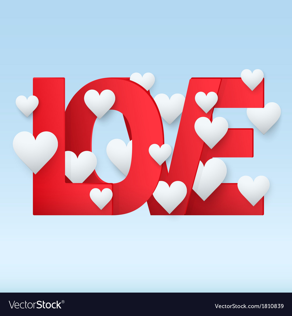 Background red letter love vector | Price: 1 Credit (USD $1)