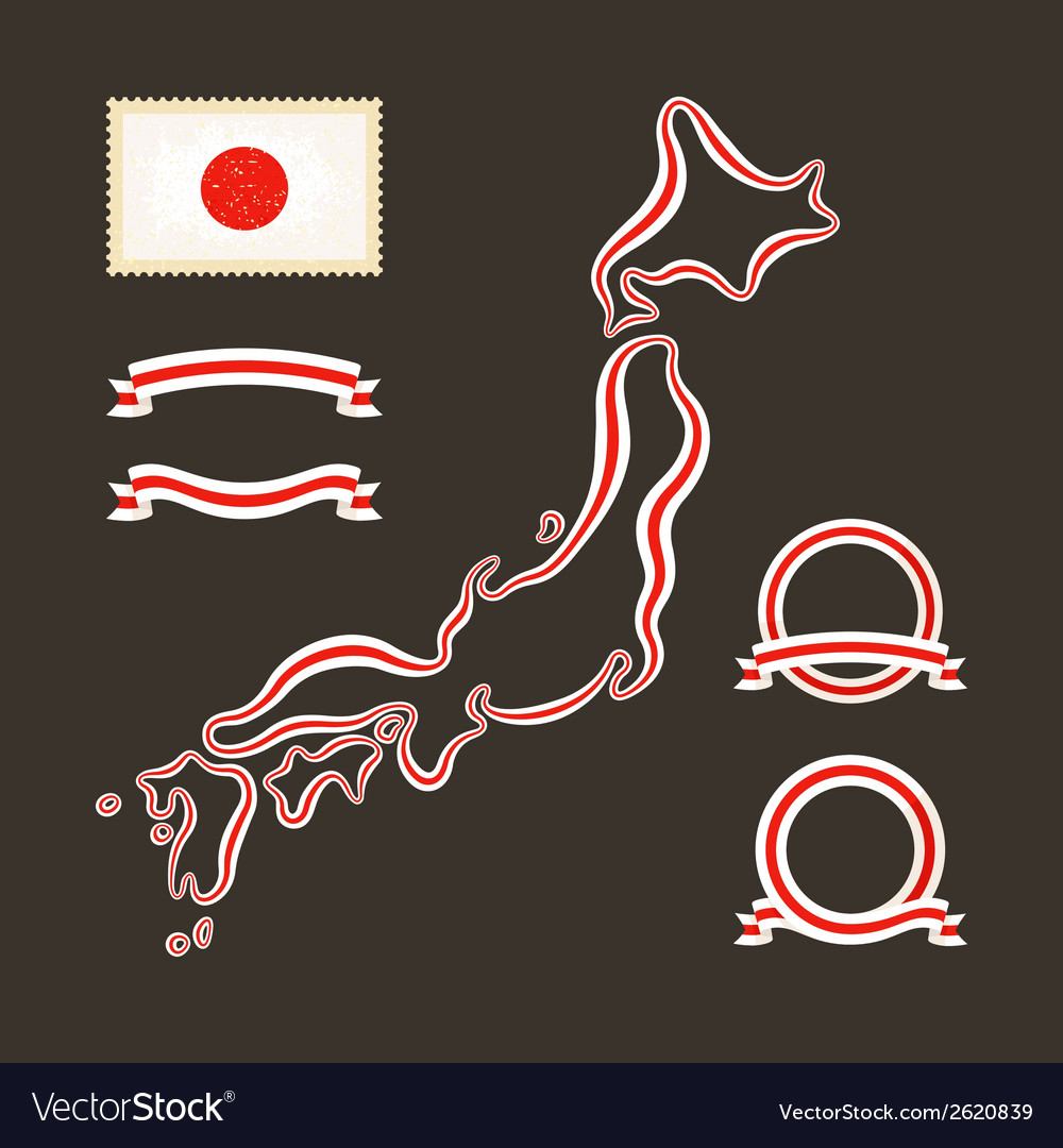 Colors of japan vector | Price: 1 Credit (USD $1)
