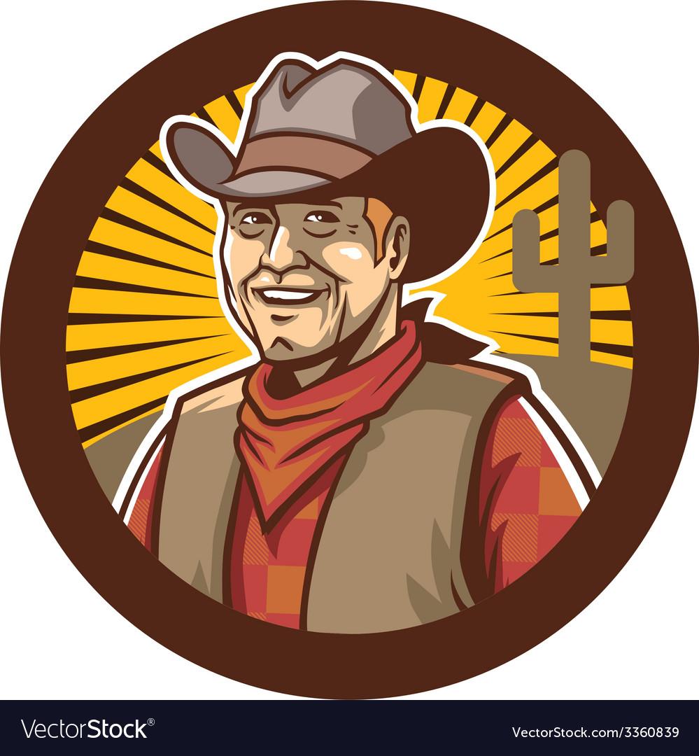 Cowboy smile vector | Price: 3 Credit (USD $3)
