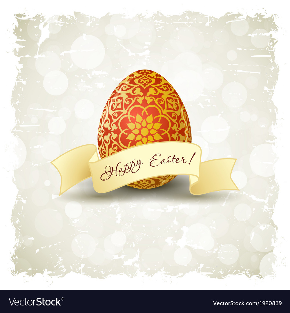 Grungy easter background vector   Price: 1 Credit (USD $1)