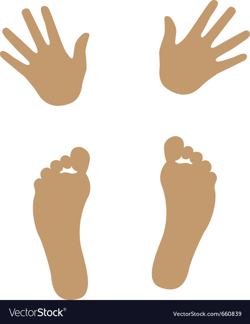 Hand and foot silhouette vector | Price: 1 Credit (USD $1)