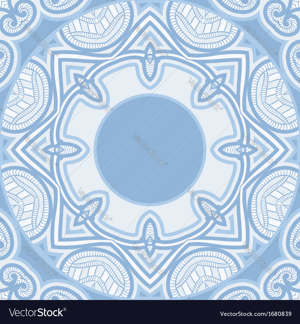 Oriental pattern in blue colors vector   Price: 1 Credit (USD $1)