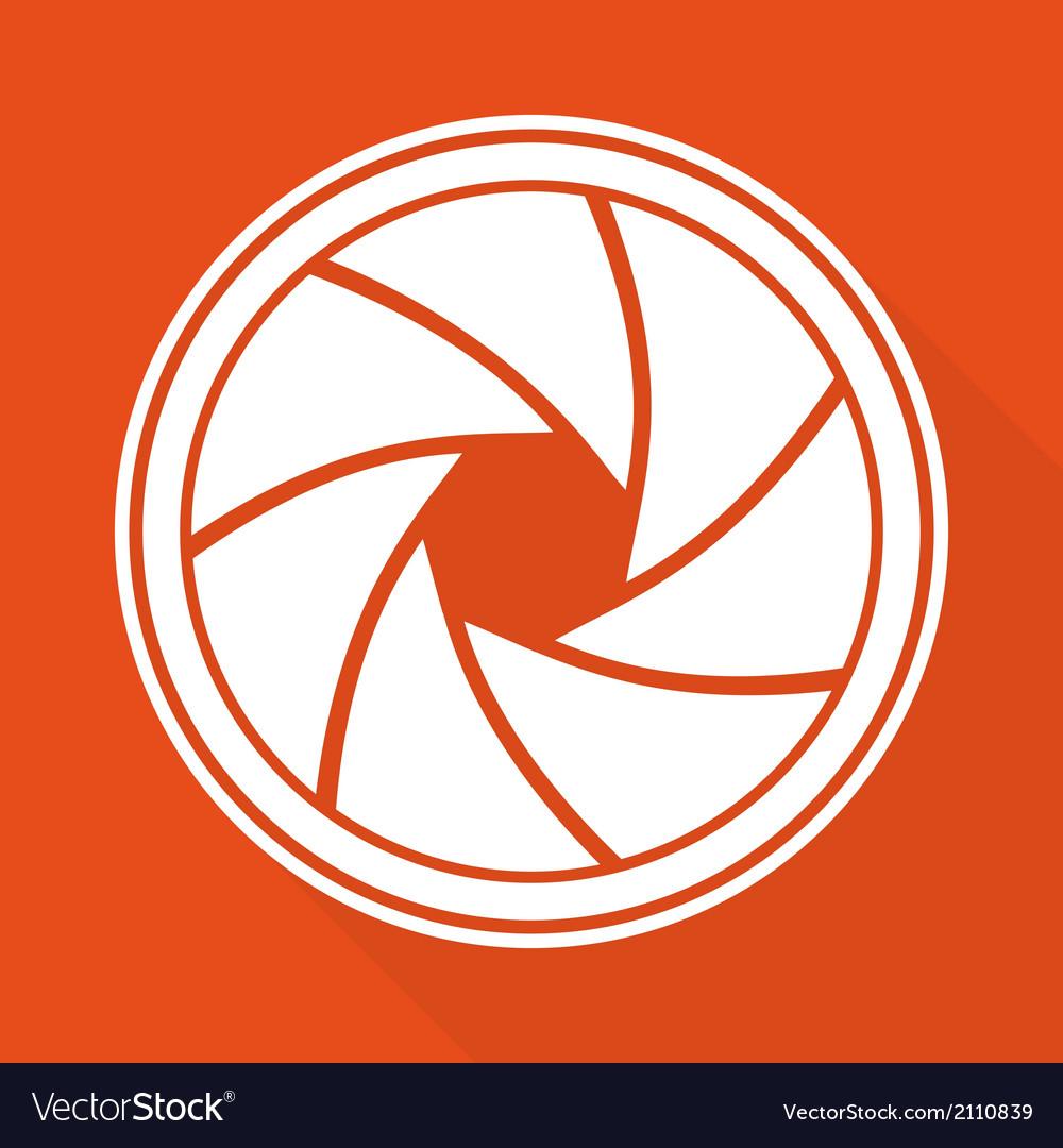 Photo camera diaphragm icon vector | Price: 1 Credit (USD $1)