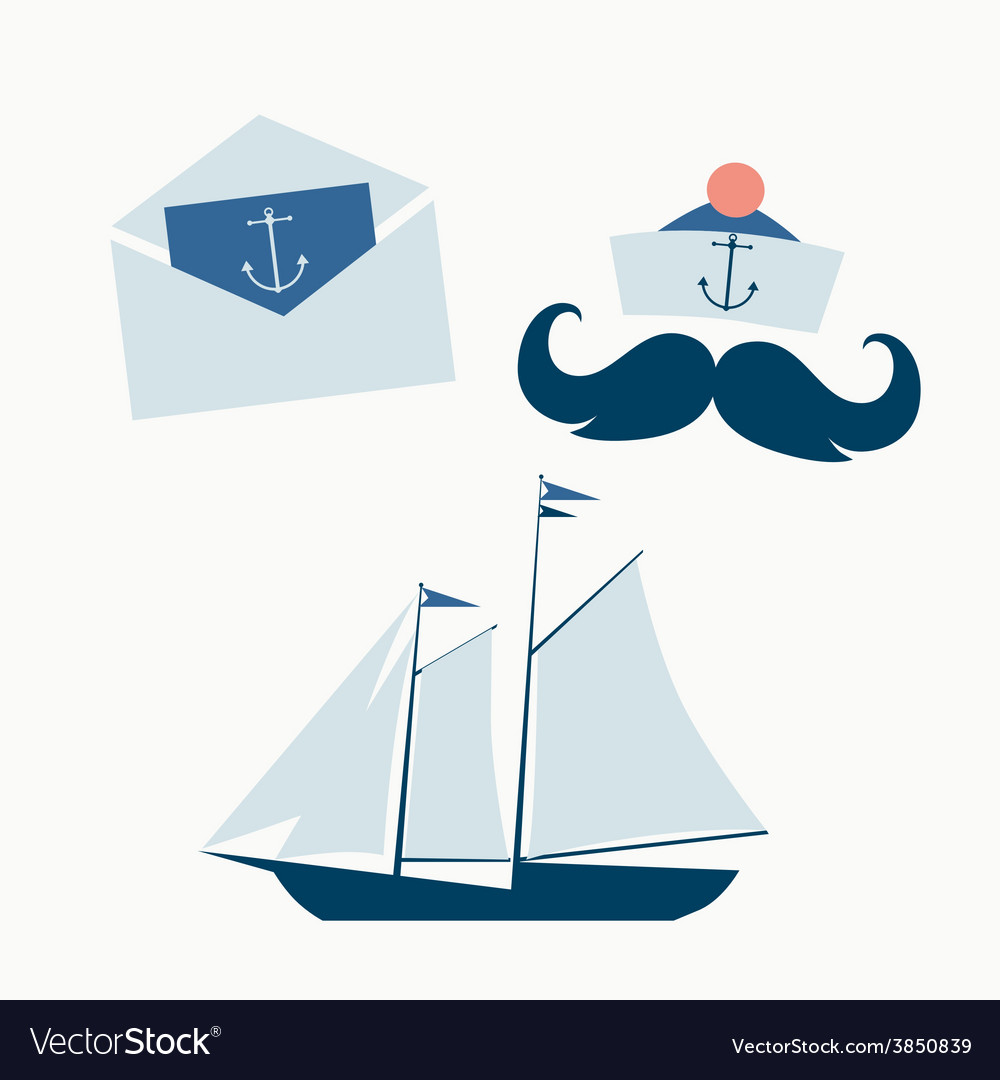 Sea voyage icons vector | Price: 1 Credit (USD $1)