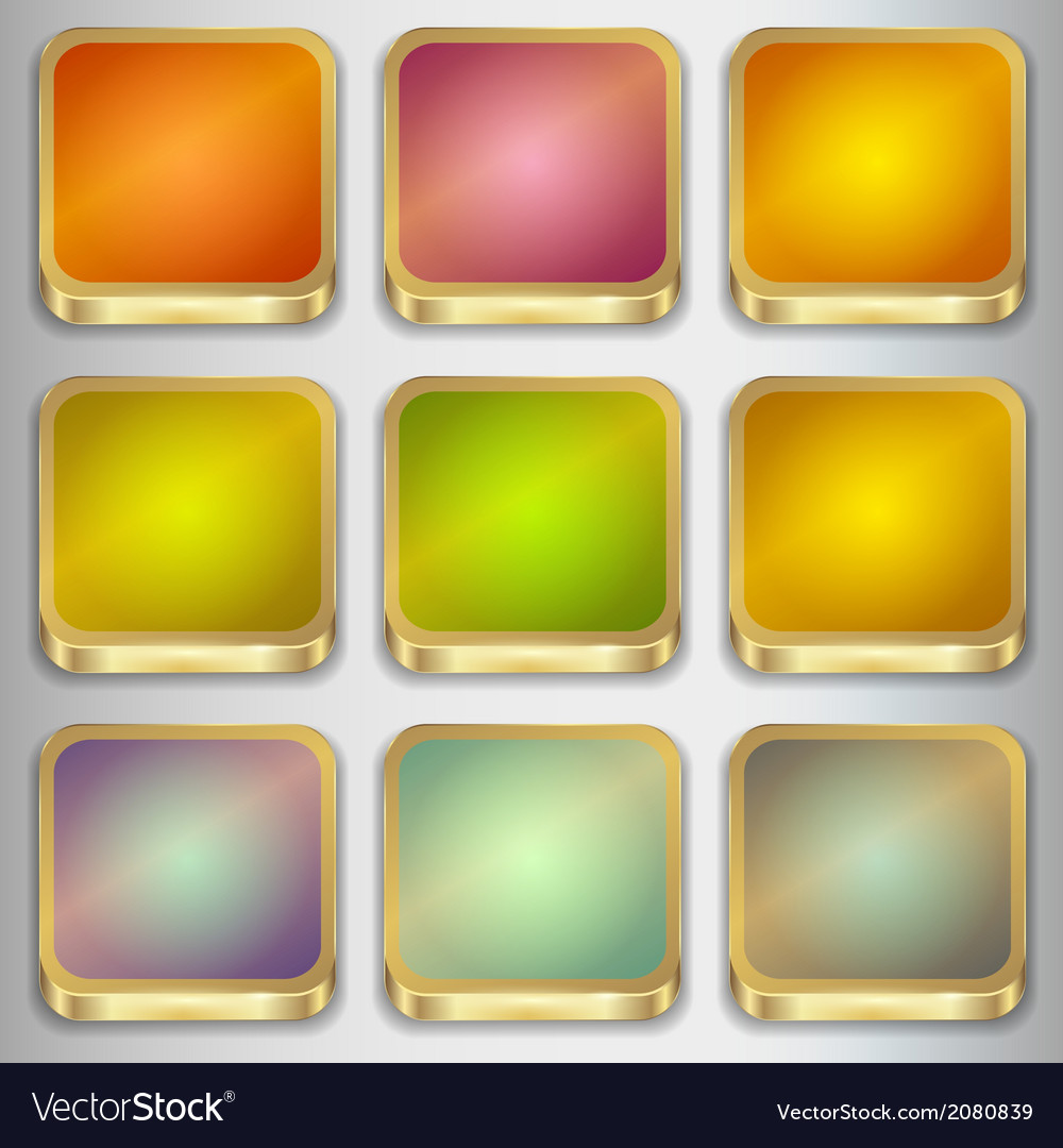 Set of empty buttons vector | Price: 1 Credit (USD $1)