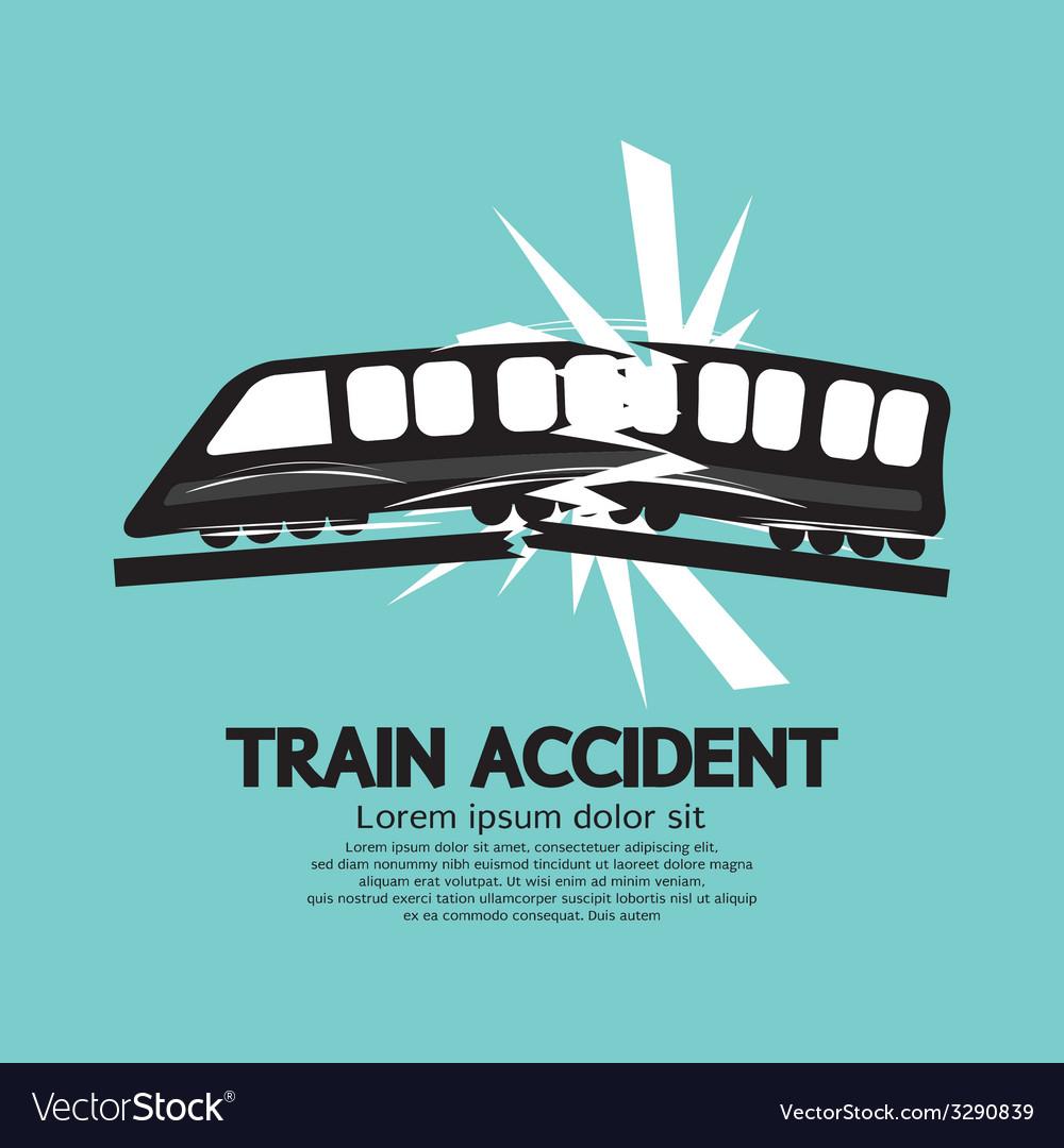Train accident graphic vector | Price: 1 Credit (USD $1)