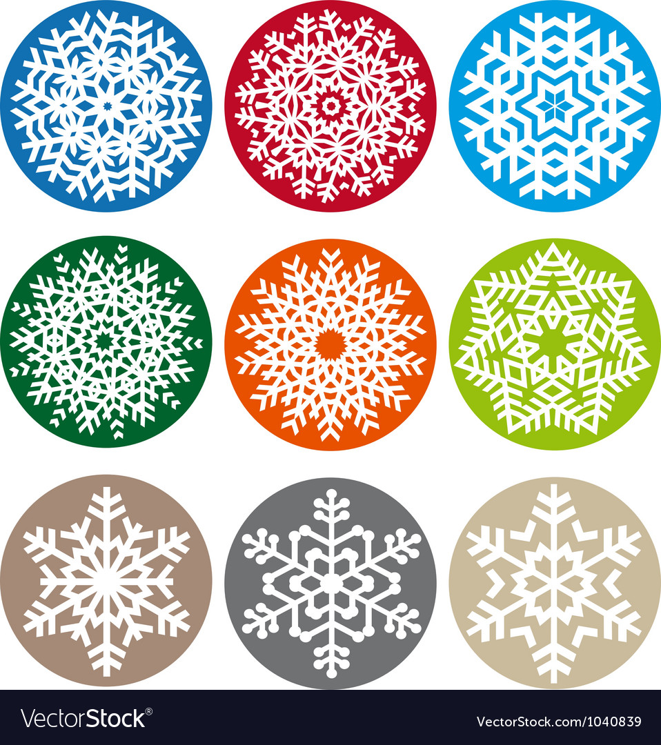 Xmas snowflake set vector | Price: 1 Credit (USD $1)