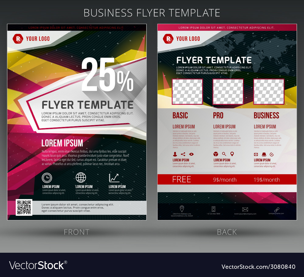 Abstract business flyer brochure template vector | Price: 1 Credit (USD $1)