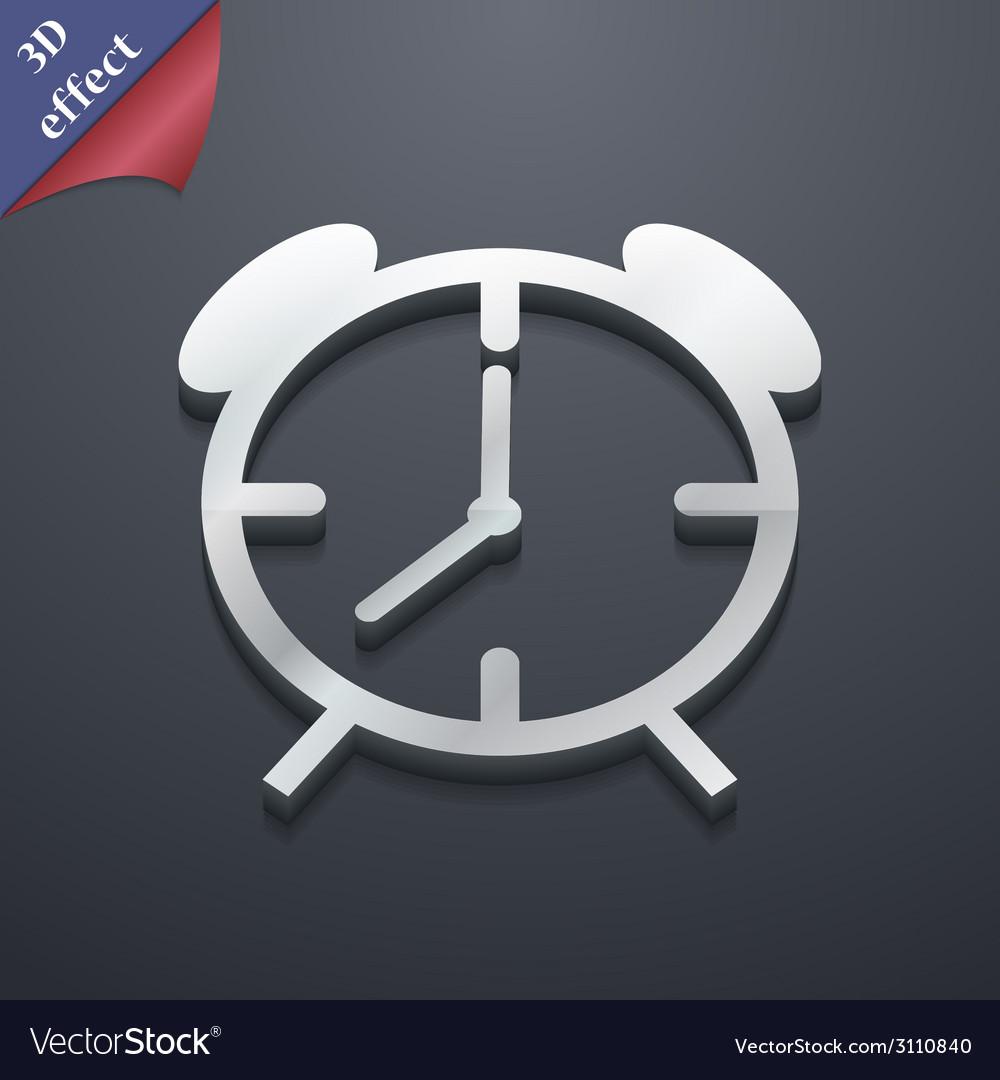 Alarm clock icon symbol 3d style trendy modern vector | Price: 1 Credit (USD $1)