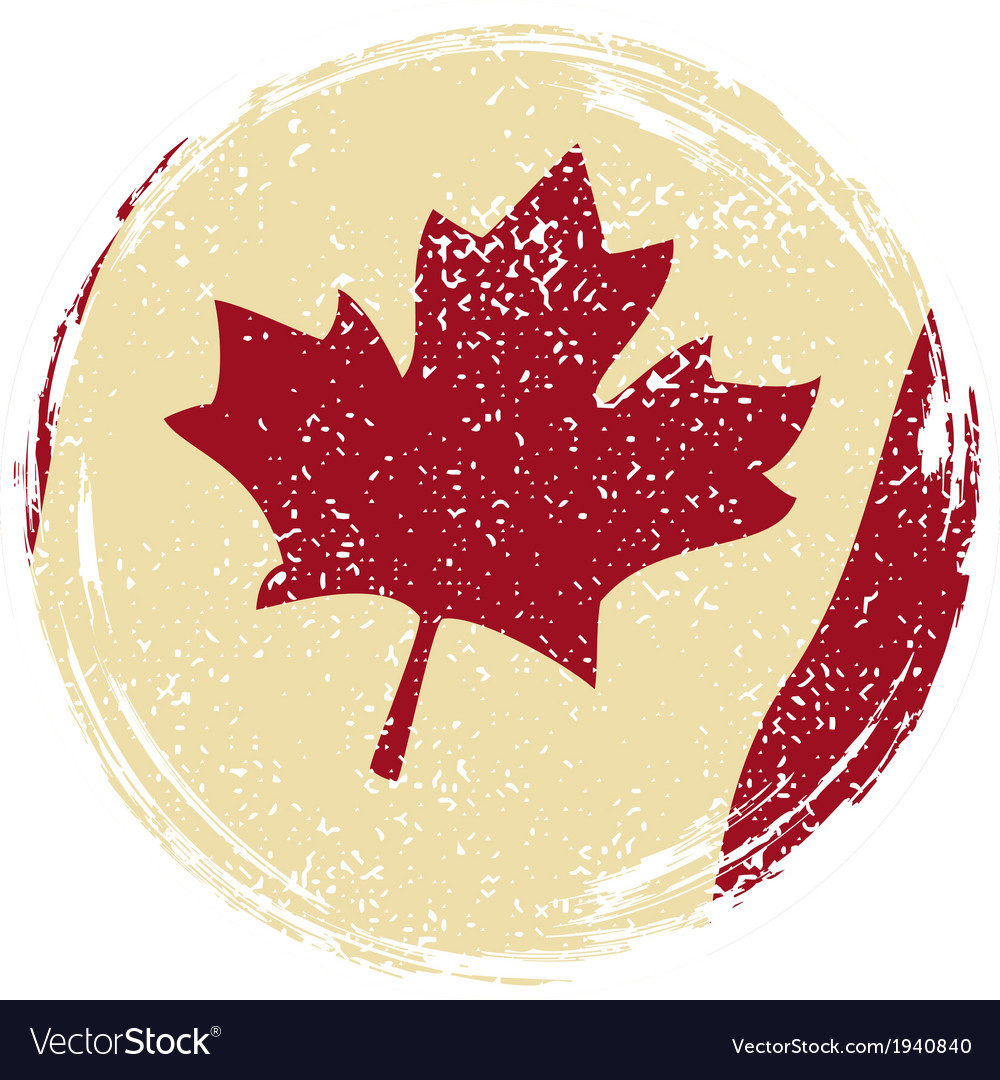 Canadian grunge flag grunge effect can be cleaned vector | Price: 1 Credit (USD $1)