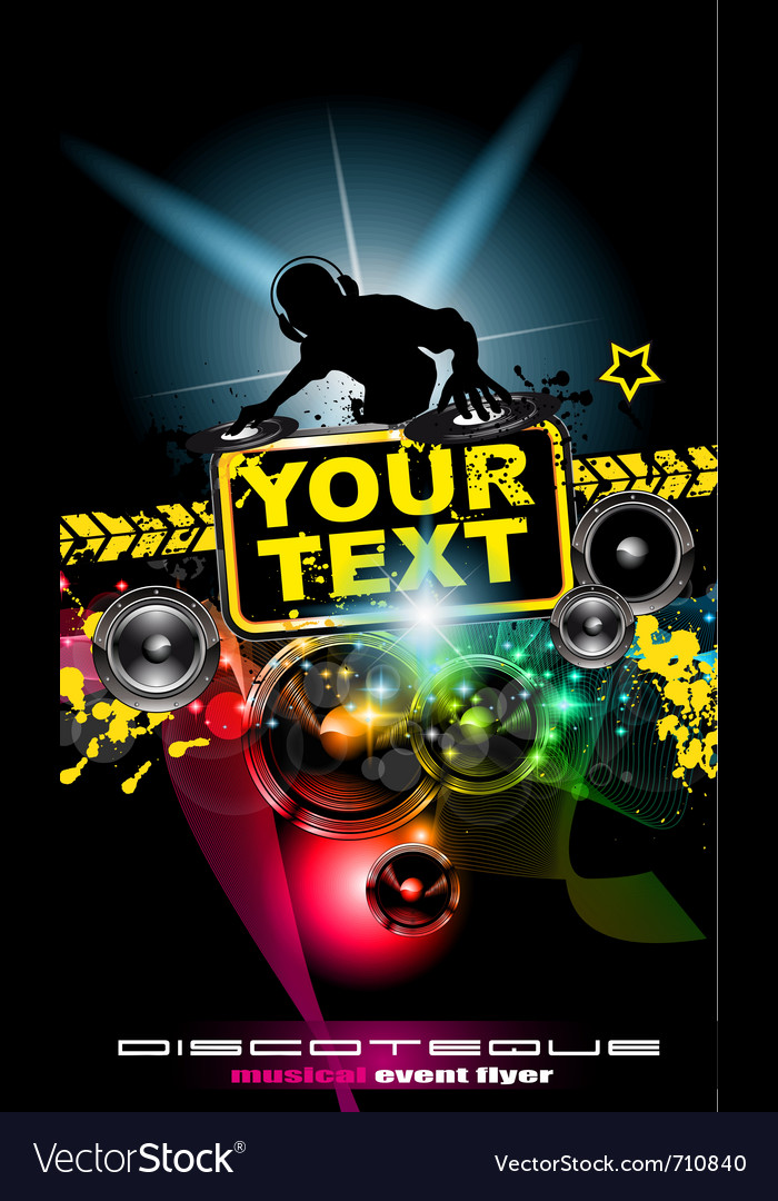 Dj poster vector | Price: 3 Credit (USD $3)