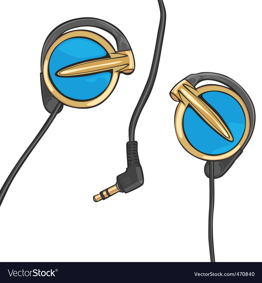 Earphones vector | Price: 1 Credit (USD $1)