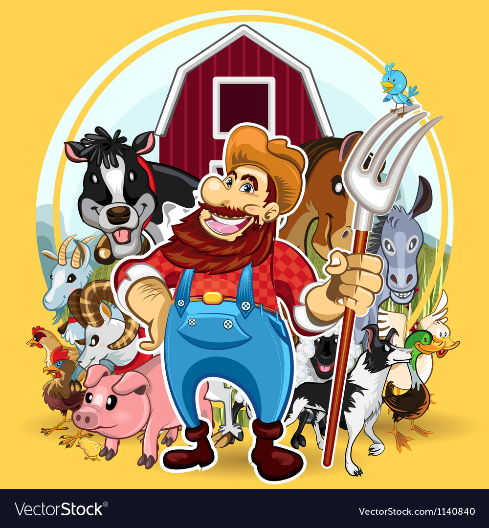 Farm life vector | Price: 5 Credit (USD $5)