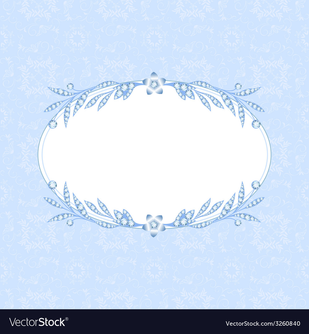 Frame with diamonds vector | Price: 1 Credit (USD $1)