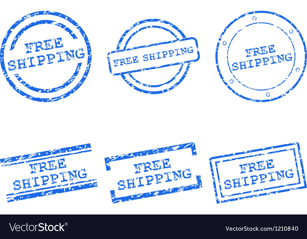 Free shipping stamps vector | Price: 1 Credit (USD $1)