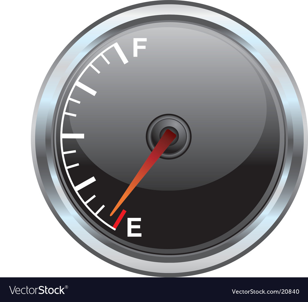 Gas gauge illustration vector | Price: 1 Credit (USD $1)