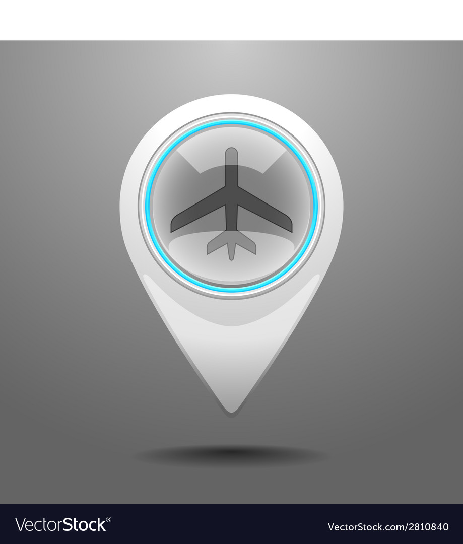 Glossy aircraft icon vector | Price: 1 Credit (USD $1)