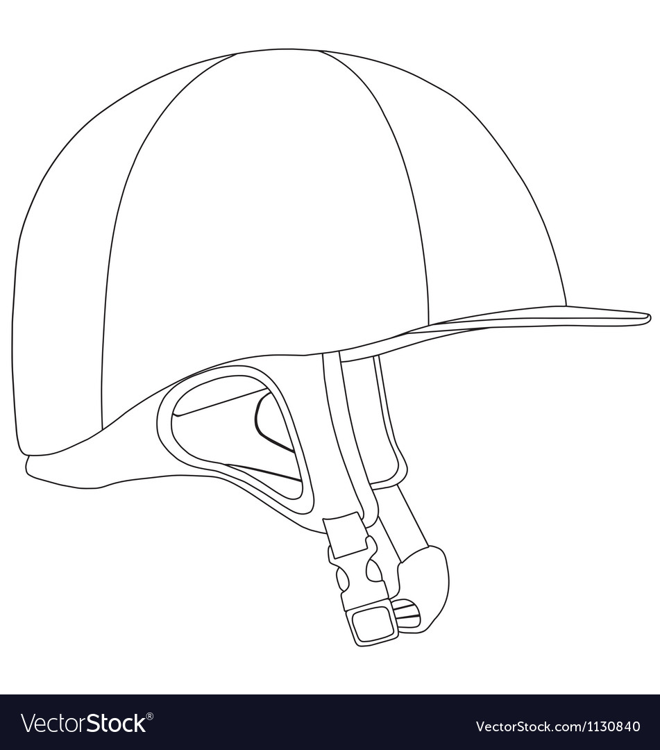 Horse riding helmet vector | Price: 1 Credit (USD $1)