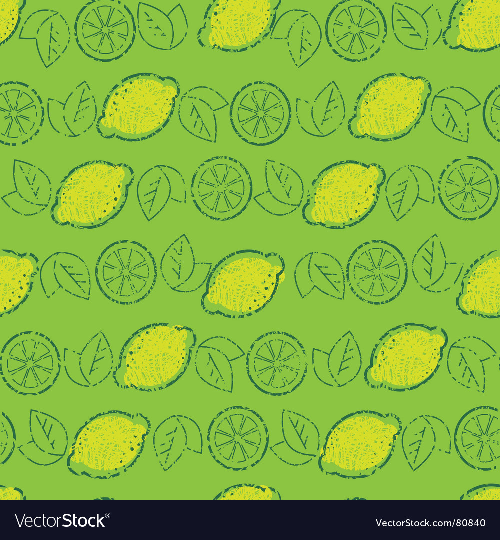 Lemons pattern vector | Price: 1 Credit (USD $1)