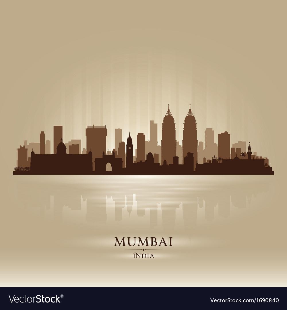 Mumbai india city skyline silhouette vector | Price: 1 Credit (USD $1)