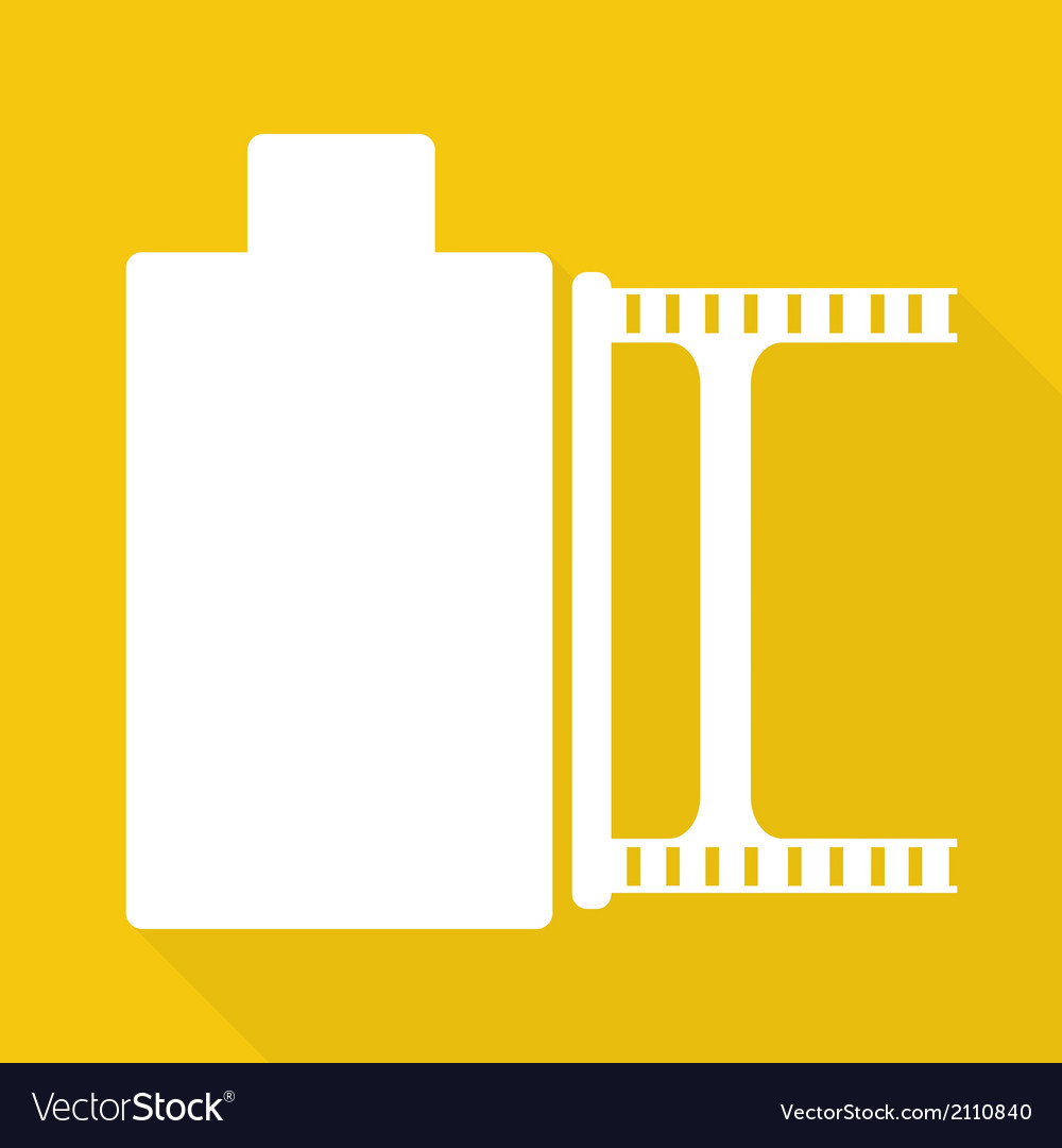 Photo film in cartridge icon vector | Price: 1 Credit (USD $1)