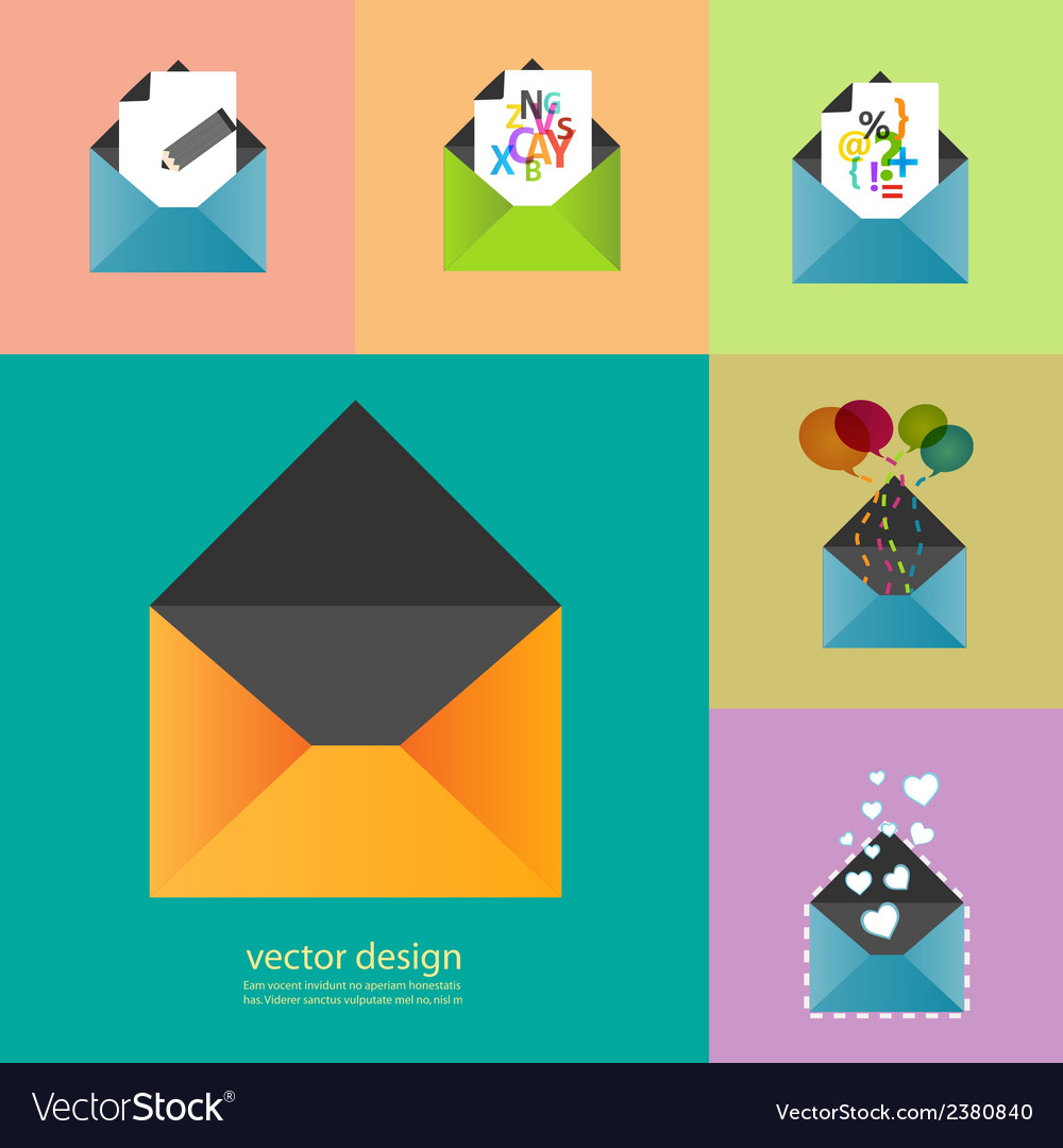 Set of information icons eps vector | Price: 1 Credit (USD $1)