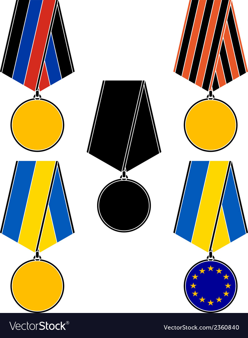 Set of ukrainian medals vector | Price: 1 Credit (USD $1)