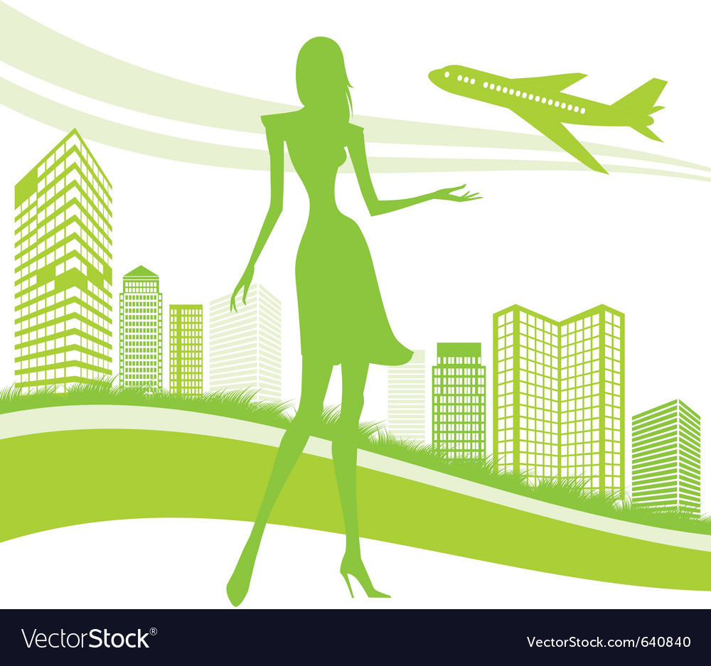 Urban and airport background vector | Price: 1 Credit (USD $1)