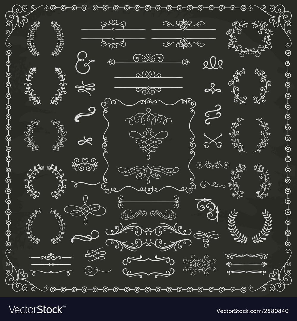 Vintage hand drawn design elements vector | Price: 1 Credit (USD $1)