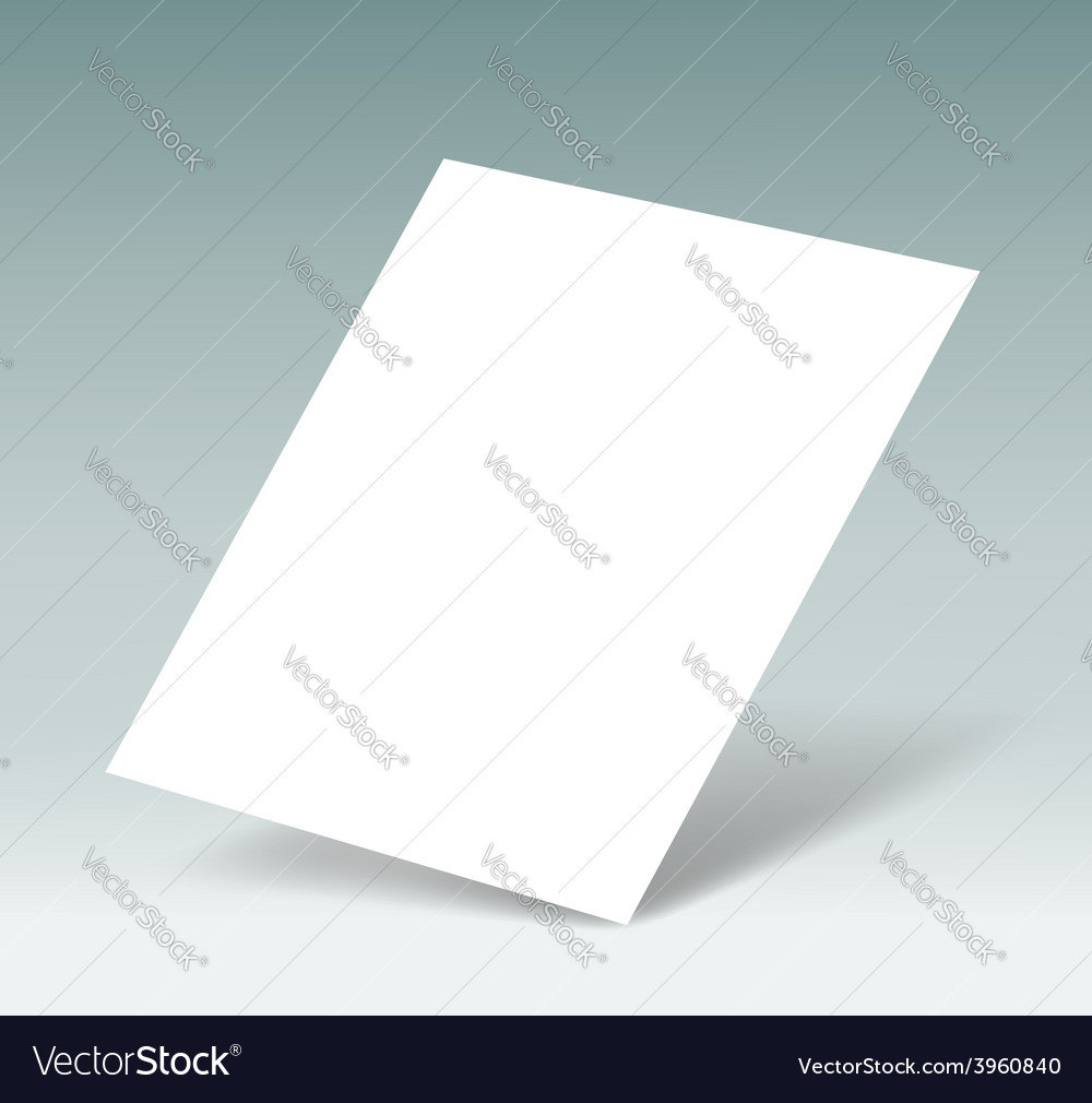 White sheet of paper vector | Price: 1 Credit (USD $1)