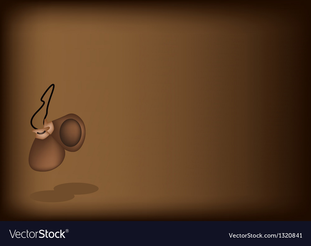 A beautiful castanet on dark brown background vector | Price: 1 Credit (USD $1)
