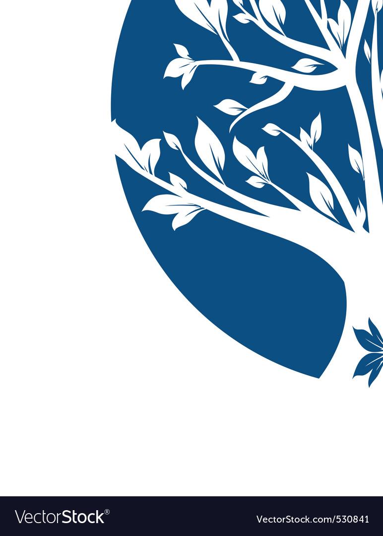Abstract blue art tree closeup vector | Price: 1 Credit (USD $1)