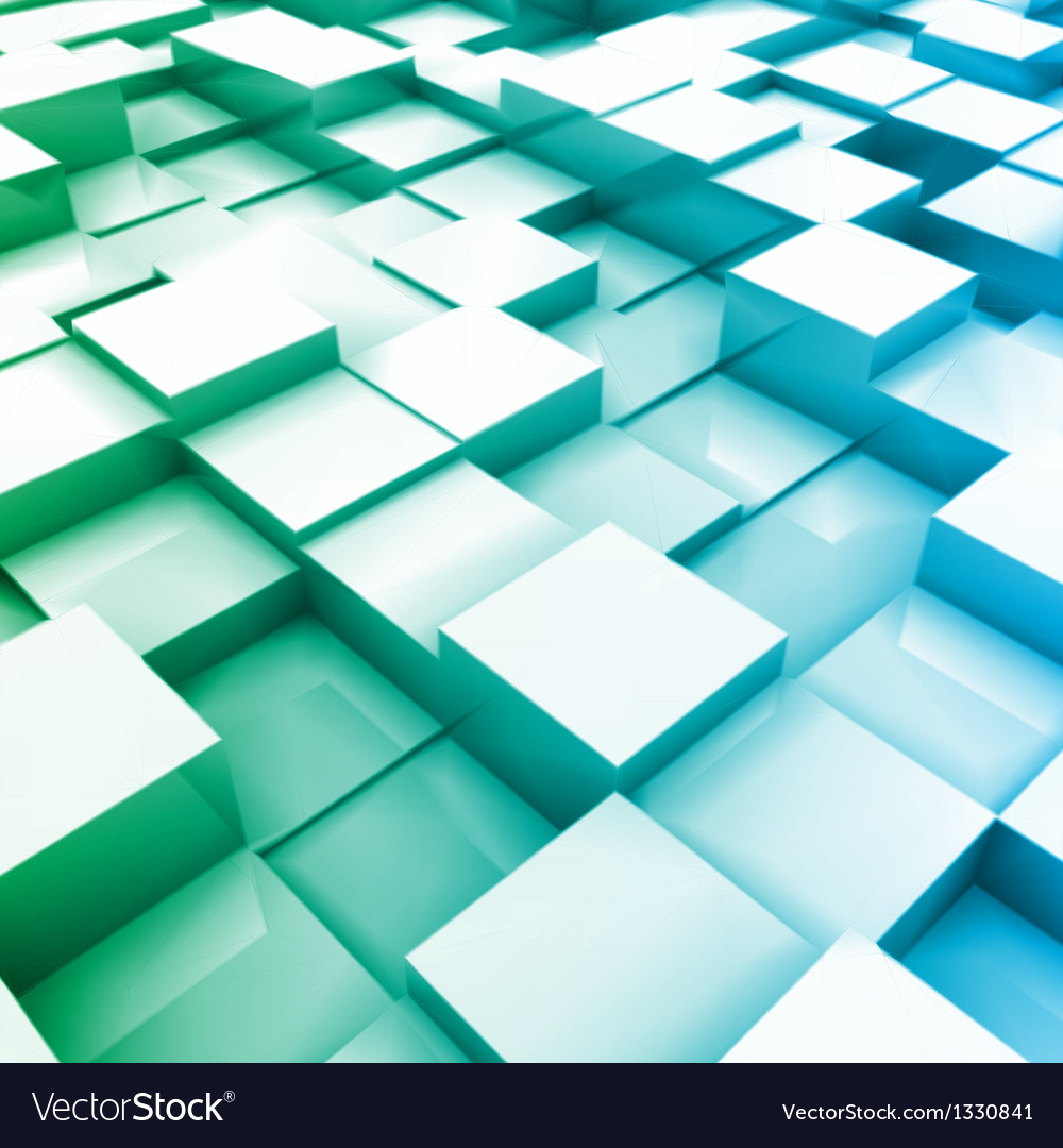 Blue brick wall with random height bricks vector | Price: 1 Credit (USD $1)