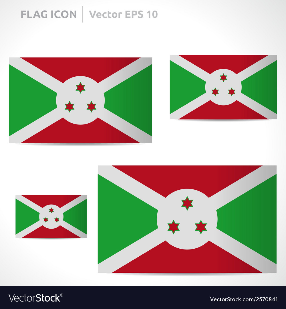 Burundi flag template vector | Price: 1 Credit (USD $1)