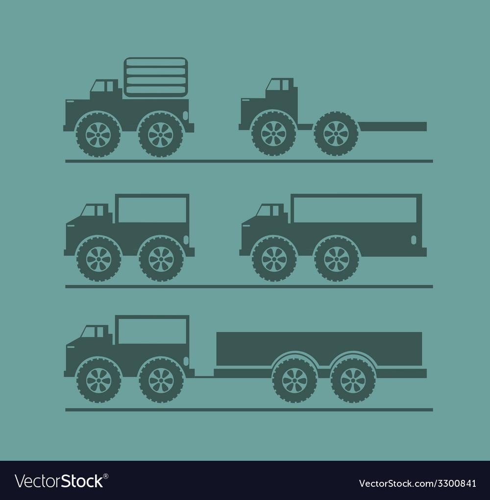 Car icon set vector | Price: 1 Credit (USD $1)