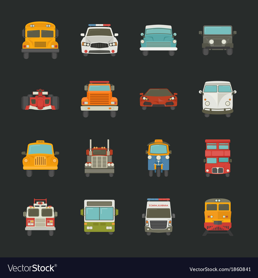 Car icons transport vector | Price: 1 Credit (USD $1)