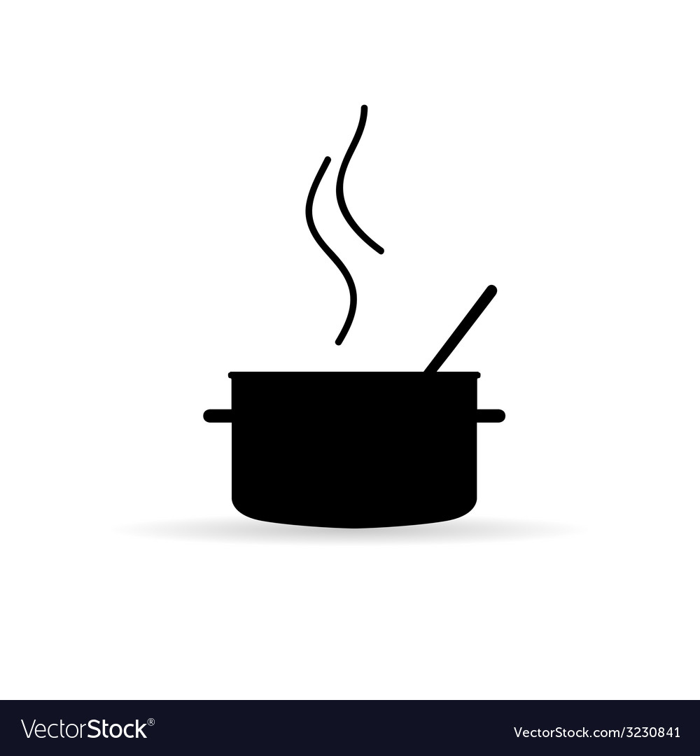 Cooking pot icon silhouette vector | Price: 1 Credit (USD $1)