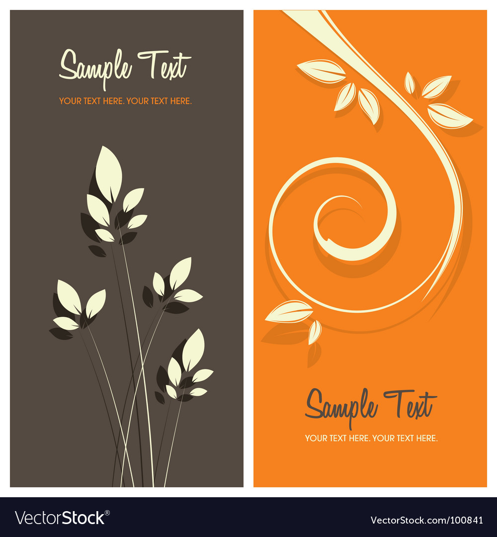 Floral card background vector | Price: 1 Credit (USD $1)