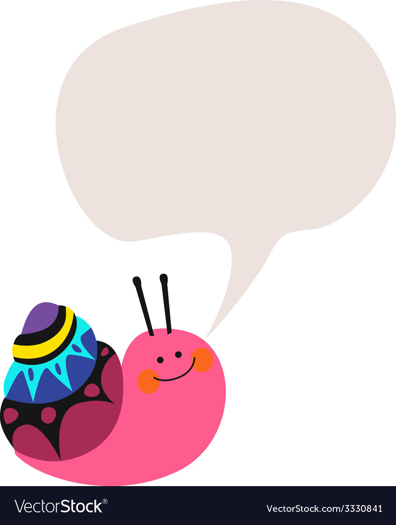 Lovely snail vector | Price: 1 Credit (USD $1)