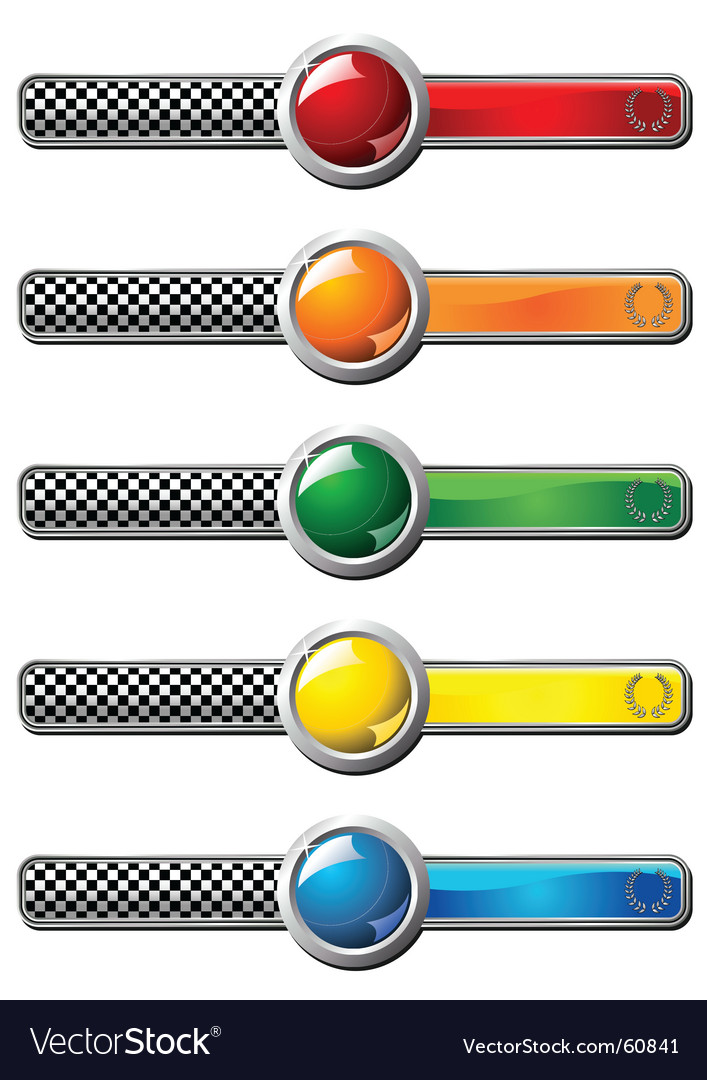Race badges vector   Price: 1 Credit (USD $1)