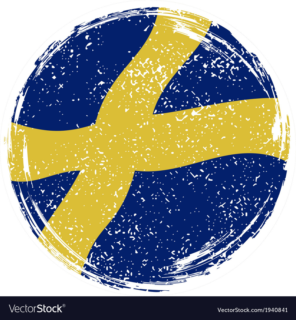 Swedish grunge flag grunge effect can be cleaned vector | Price: 1 Credit (USD $1)